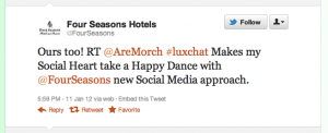 #luxchat with Four Seasons
